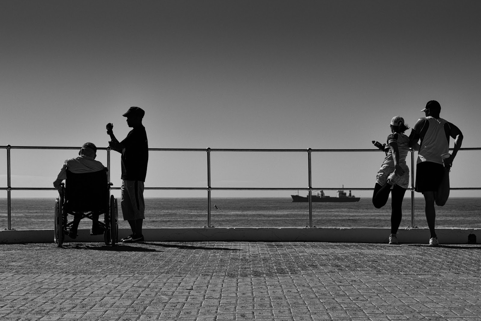 A scene from the seapoint promenade.