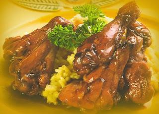 Muslos de pollo Bordeaux