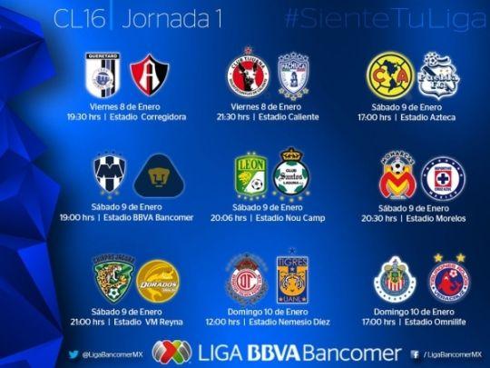 Liga Bancomer MX, los mejores goles de la Jornada 1 #Clausura2016