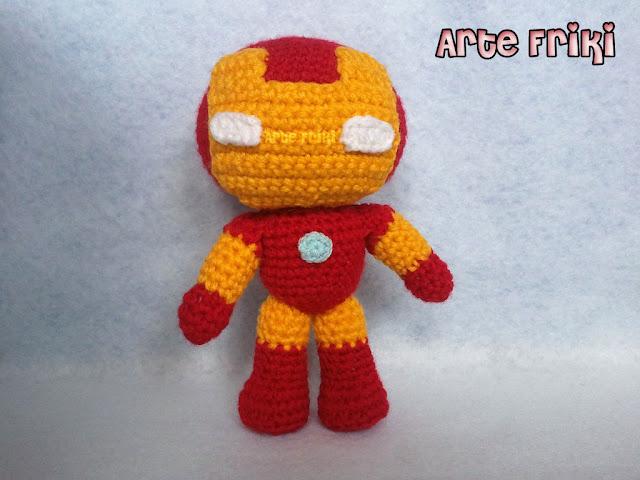 iron man amigurumi crochet ganchillo muñeco peluche