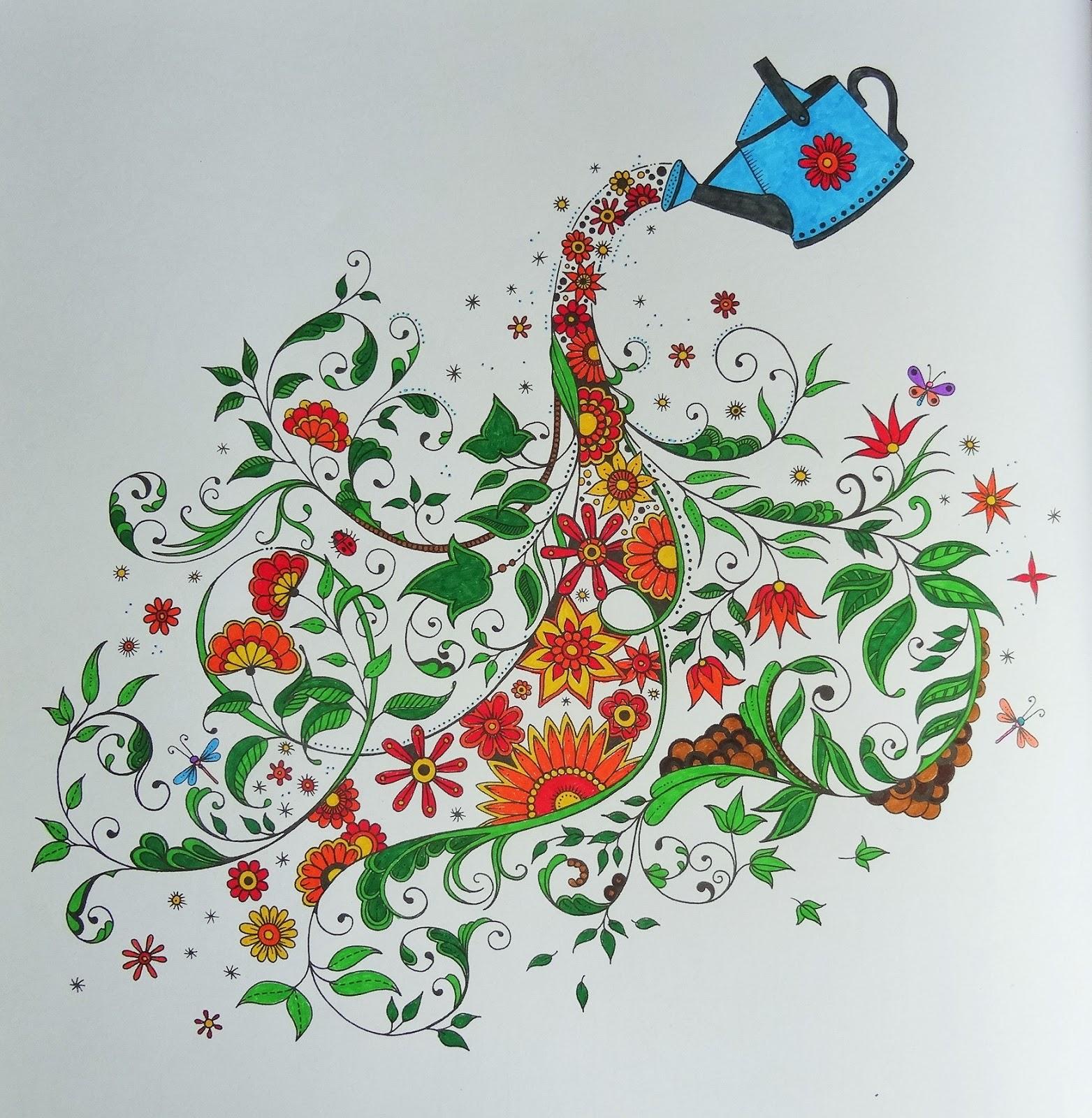 Les mercredis de julie coloriages art th rapie - Mon jardin secret coloriage ...