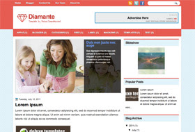 Diamante Blogger Template