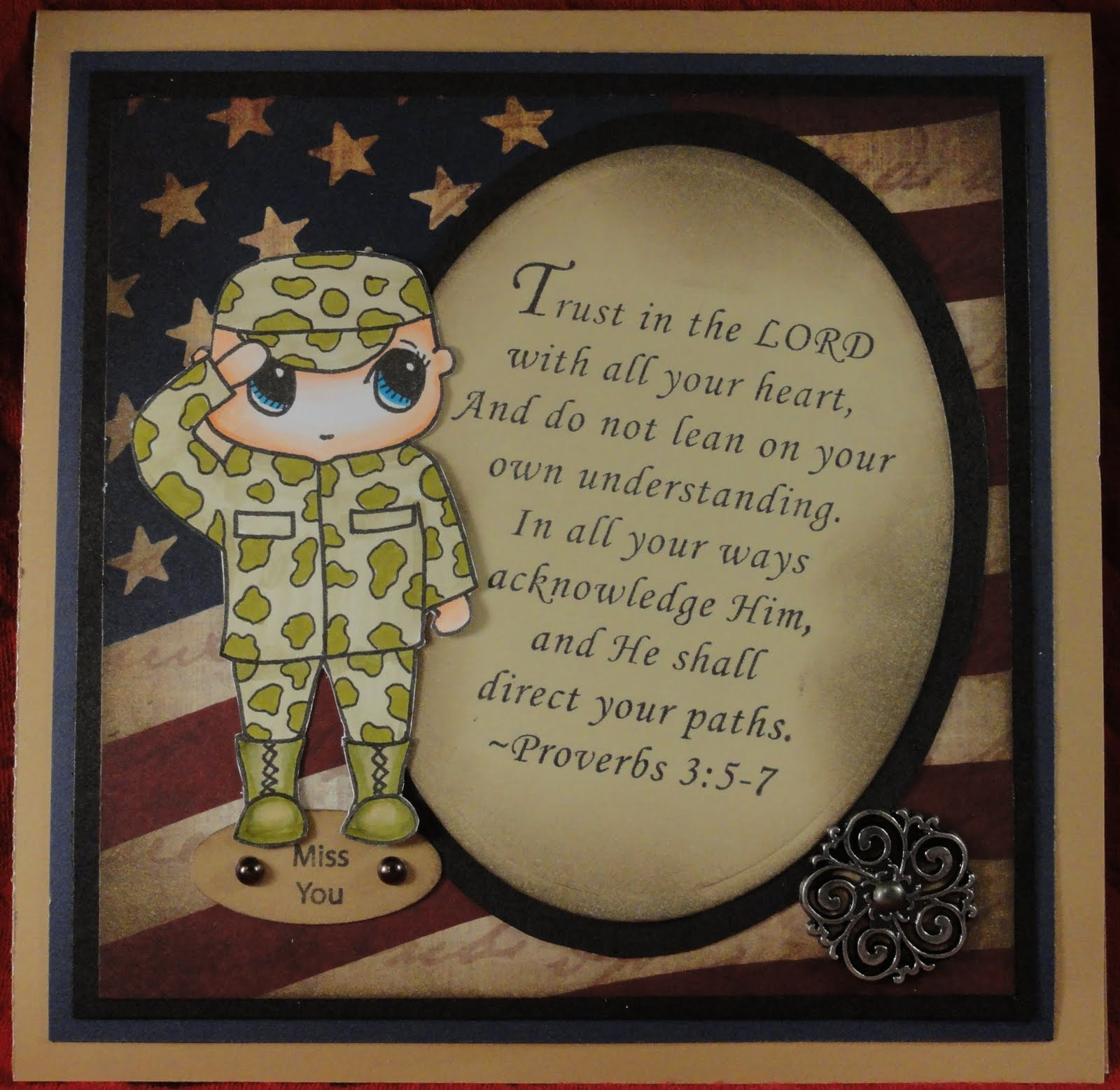 inspired stamps...the blog: Pink n black Baptism card...Military ...