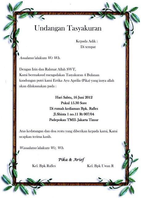 Download image Undangan Tasyakuran 7 Bulanan Tingkeban PC, Android ...