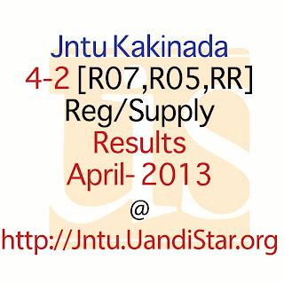 jntuk 4-2 2013 r07, r05, rr reuslts
