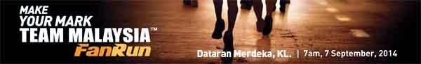 Team Malaysia Fan Run Race Kit Collection 2014