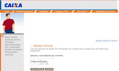 BOLETO 2° VIA FIES- CAIXA ECONÔMICA | BANCO DO BRASIL