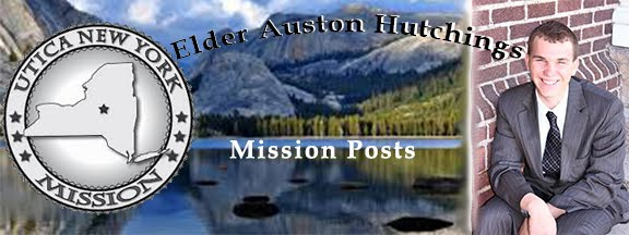 Elder Auston Hutchings' Mission Posts