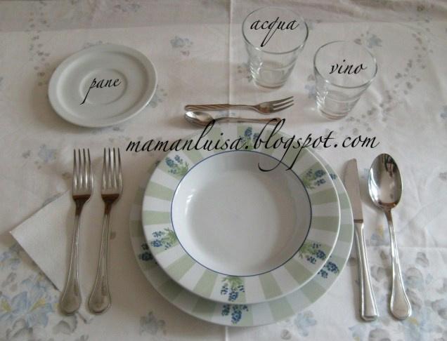 Mamanluisa come apparecchiare la tavola - Disposizione bicchieri a tavola ...