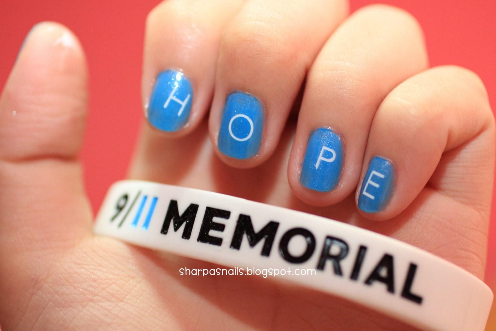 sharp as nails (a nail art blog): 9/11 tribute nail art