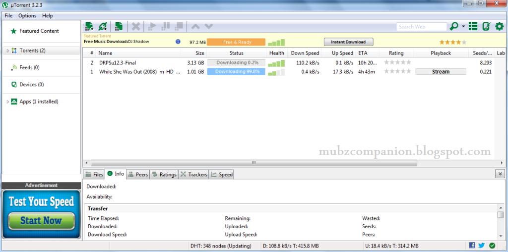 Download free trial uTorrent - FindMySoft