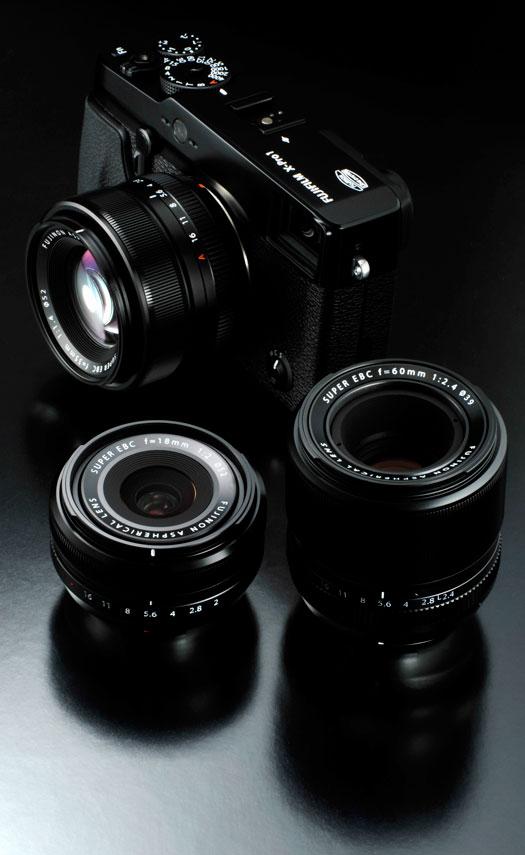 fuji x-pro1 lenses 18mm 35mm 60mm