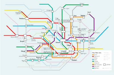 Tokyo subway map showing both Metro and Toei Lines