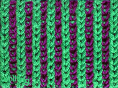 2 Color Knitting Patterns : Two-color Brioche Stitch Knitting Stitch Patterns