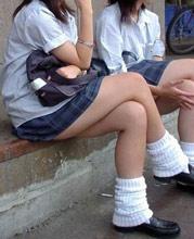 Japanese girls in miniskirts