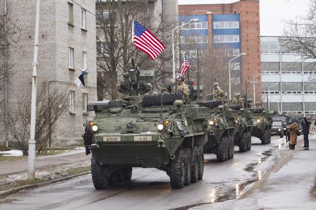 GUERRA FRIA 2.0: EUA-OTAN ENVIAM ARMAMENTOS À ESTÔNIA BEM AO LADO DA RÚSSIA