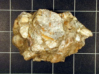 Rock made of bits of matter joined together