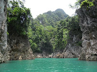 khao sok, khao lak land discovery, overnight, lake, rafthouse,
