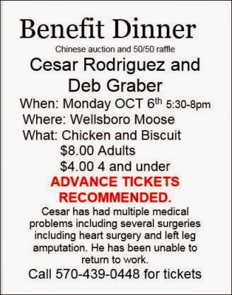10-6 Benefit Dinner Wellsboro
