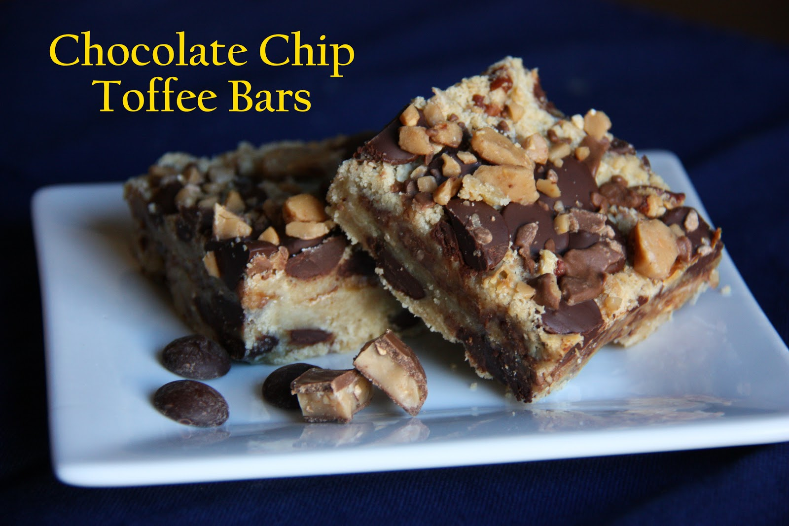Chocolate Chip Toffee Bars With Almonds Recipe — Dishmaps