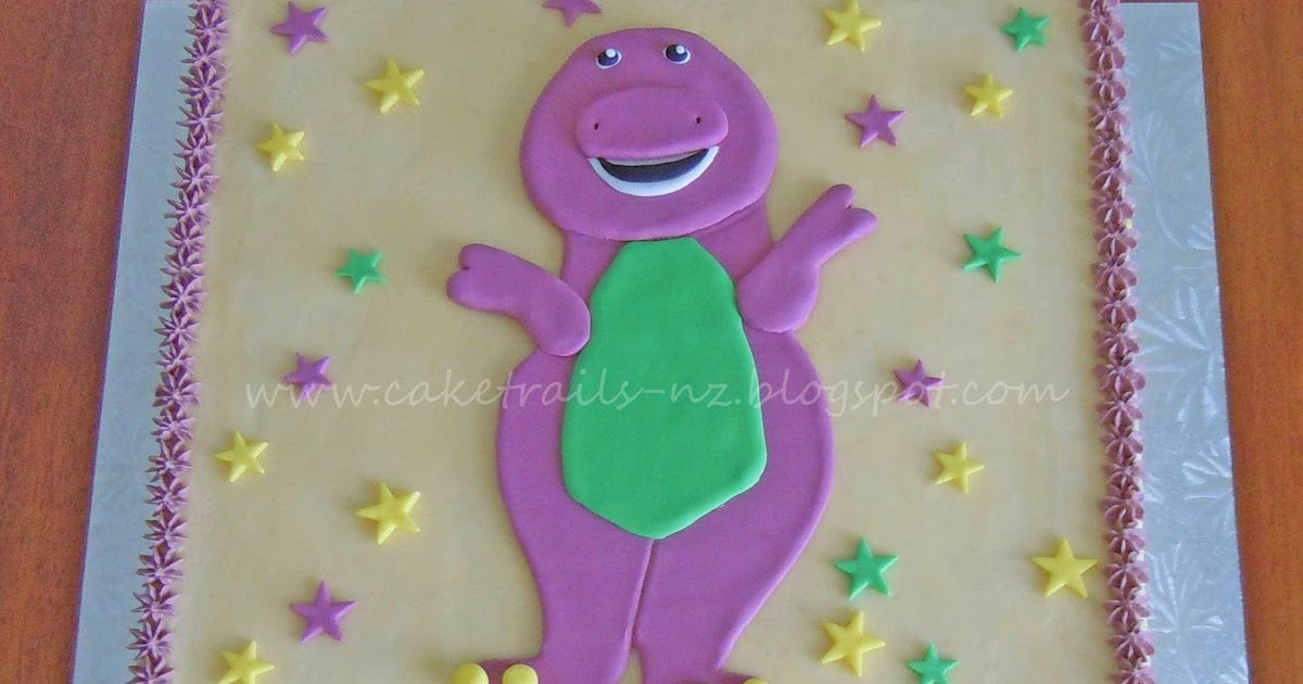 How To Make A Barney Cake Easy