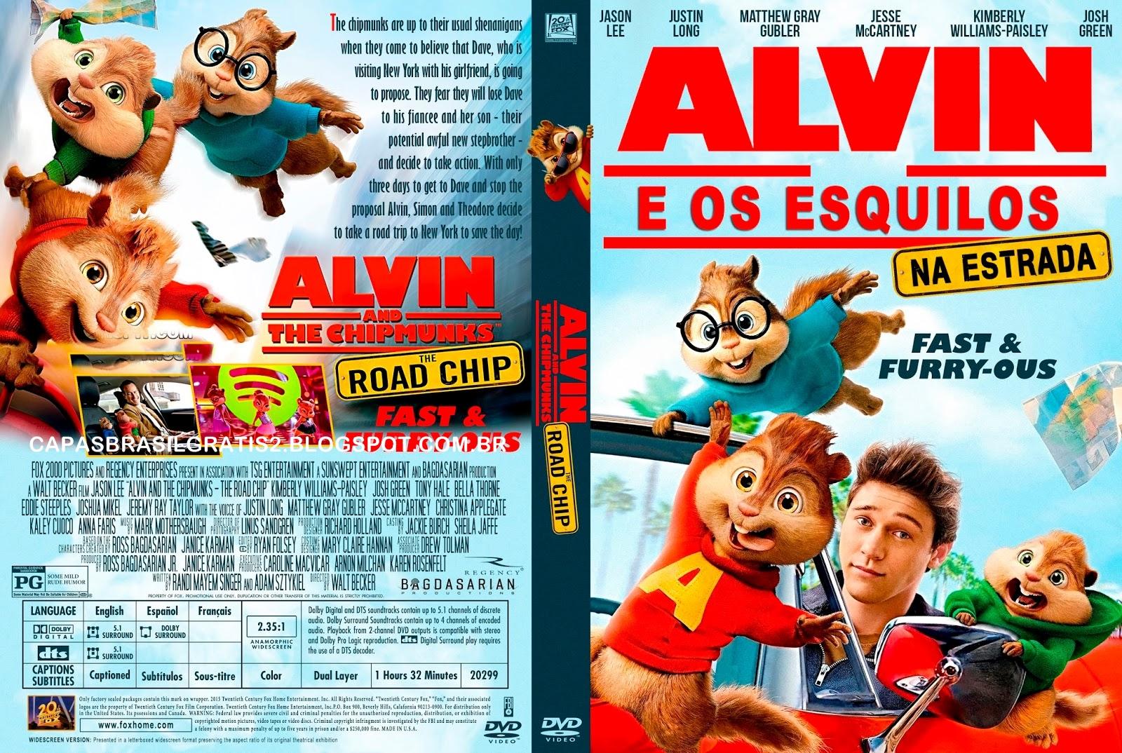 Alvin e os Esquilos Na Estrada DVD-R Alvin E Os Esquilos Na Estrada 2016