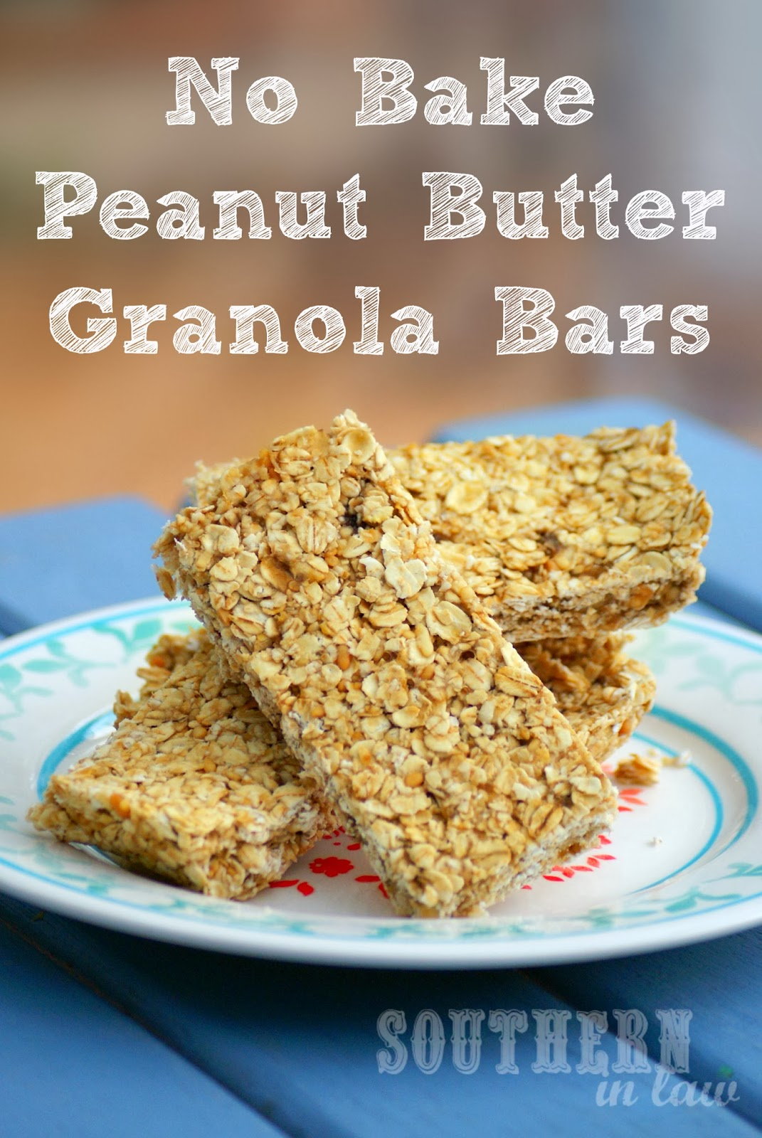 Healthy No Bake Peanut Butter Banana Granola Bars