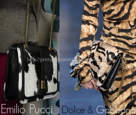 Чанти от животинска кожа есен-зима 2011-2012