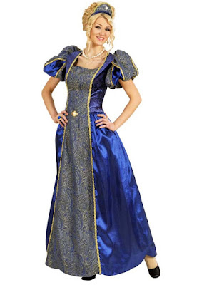 Blåt dronninge kostume