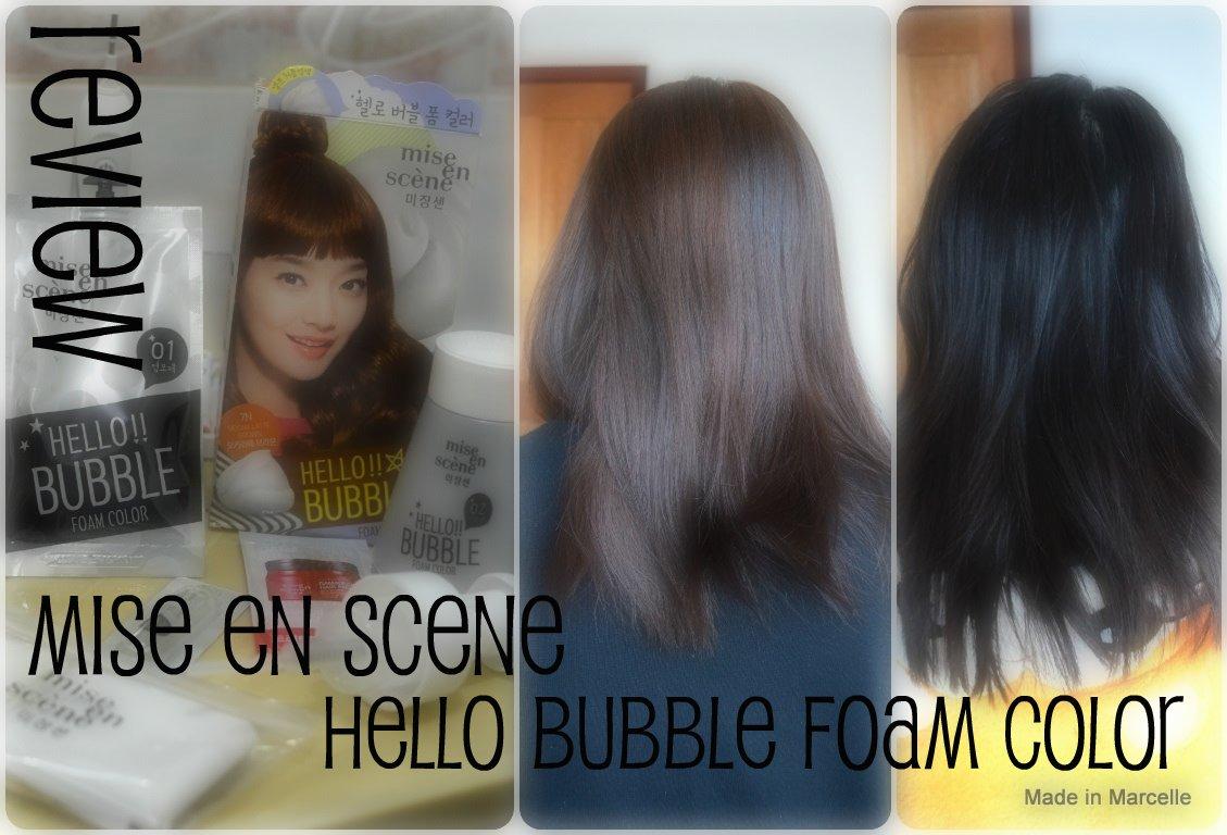 Review By C Mise En Scene Hello Bubble Hair Foam Korean Hair Dye