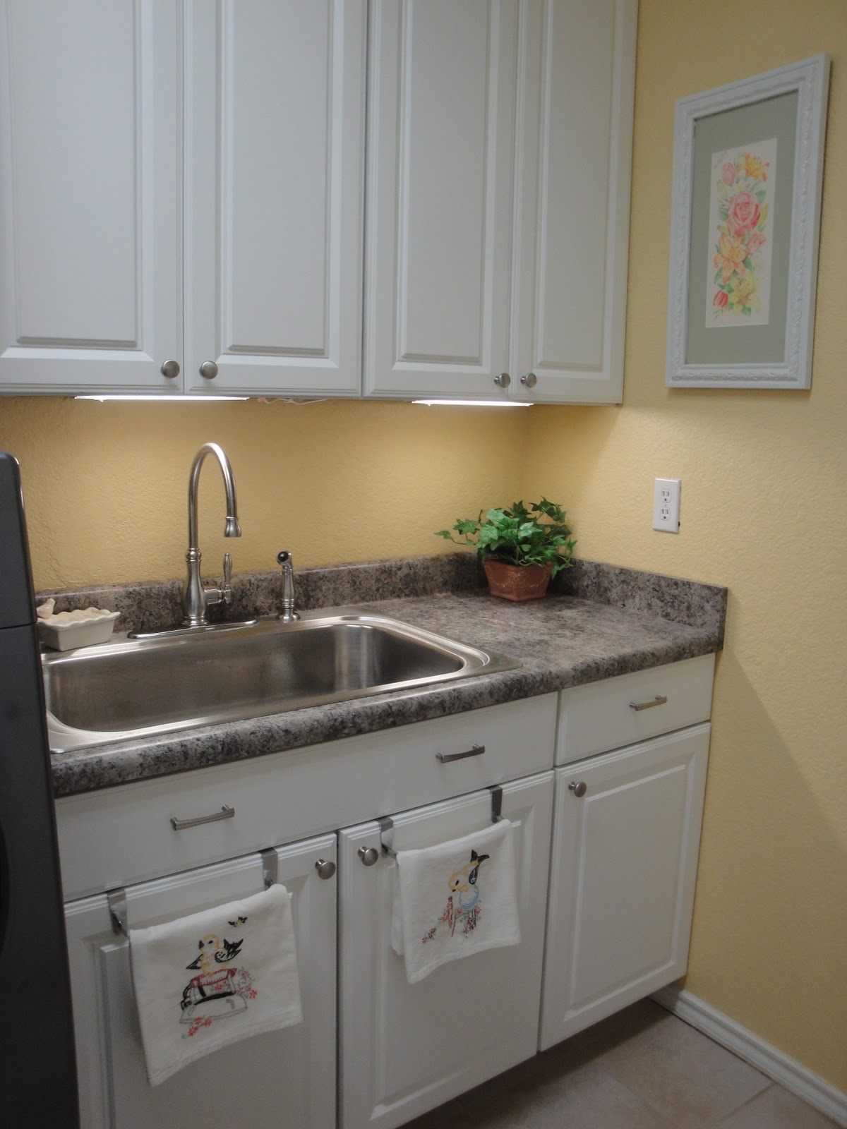 Laundry Room Sink With Cabinet : Vintage Linen Treasures: New and Improved Laundry Room