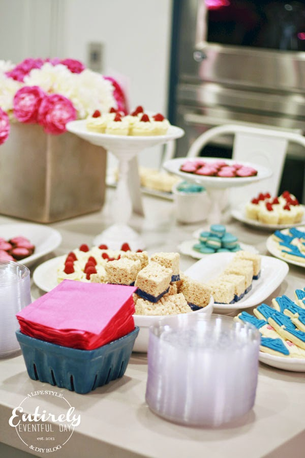 Pink & Navy Party Color Scheme. So pretty!