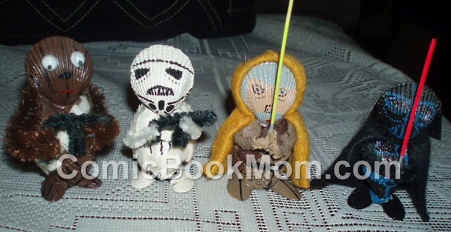 Star Wars Figures Created by using Sea Shells