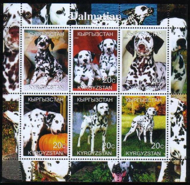 2000年キルギスタン共和国 ダルメシアンの切手シート
