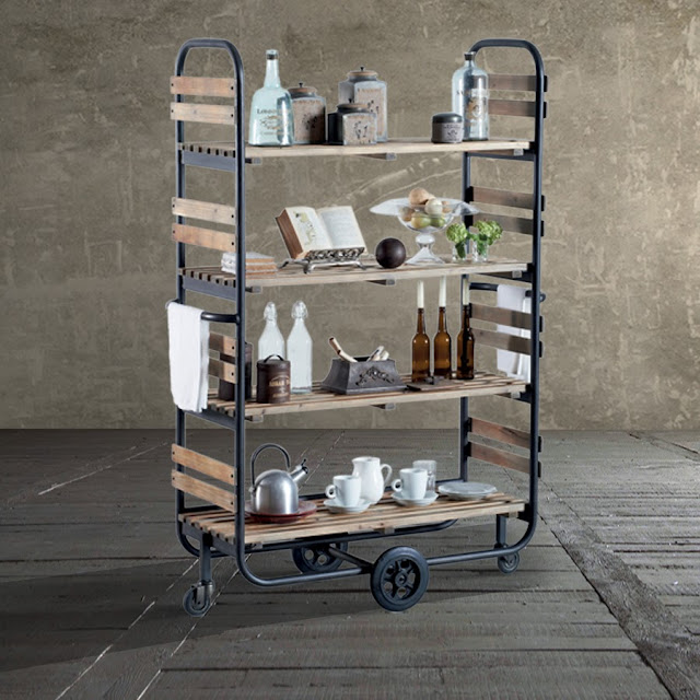 Seaseight design blog mad about metal rack - Scaffale ikea legno ...