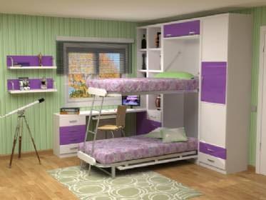 Furniture interior design save space functional modern furniture - Literas plegables verticales ...