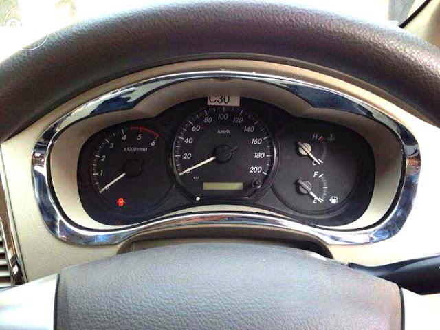 Interior Toyota Innova-Spedo Meter