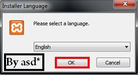 Seleccionando el idioma del xampp