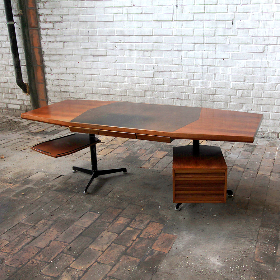 italian vintage design hout meuble desk