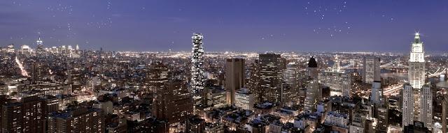 56 Leonard Street by Herzog & De Meuron in the skyline of new york city