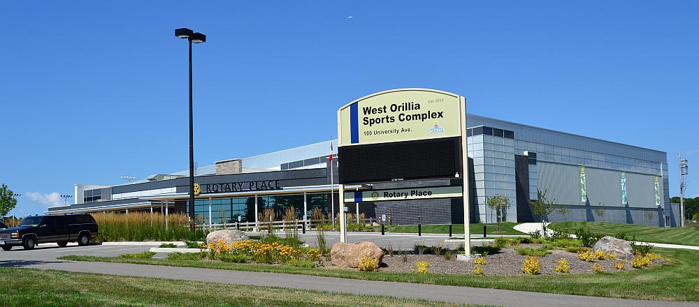 The front entrance at the Rotary Place Arena in Orillia