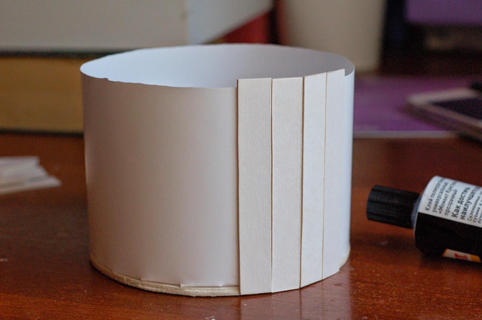 Сделать бочонок из картона своими руками