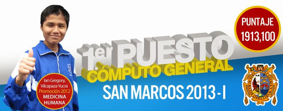 1er. Puesto Cómputo General San Marcos 2013-I