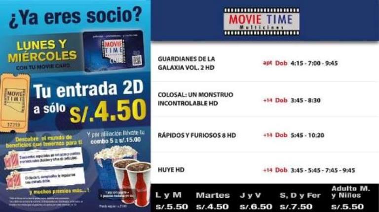 Cartelera Movietime Cañete Del 20-04-2017 Al 26-04-2017.
