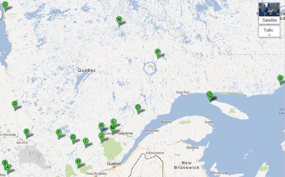 Préférence Interférences: Cartes des villes fantômes du Québec AI07