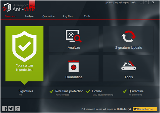 Ashampoo Anti-Virus 2014 v1.1.0
