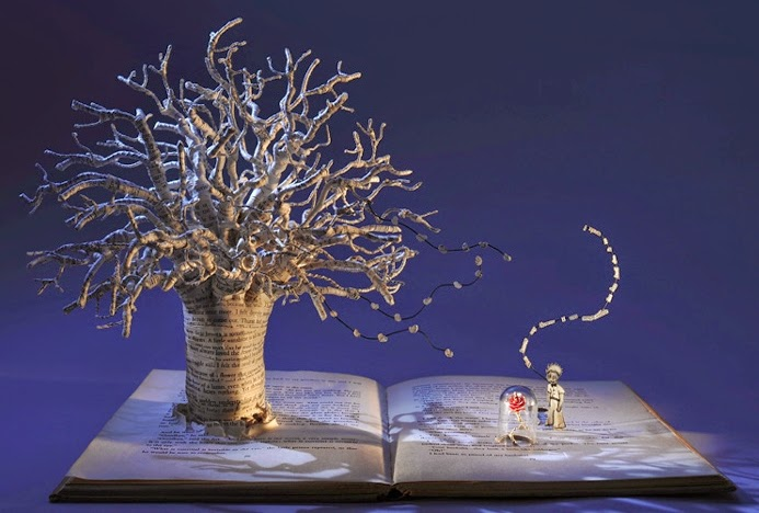 03-The-Little-Prince-Su-Blackwell-Book-Fairy-Tale-Sculptures-www-designstack-co