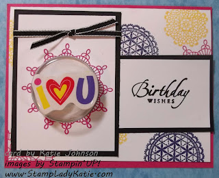 Card made with Treat Cups and Delicate Doilies Stamp Set