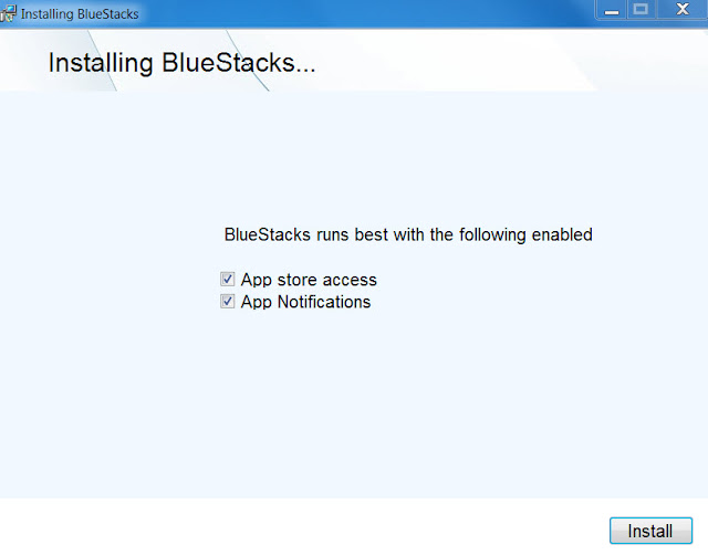 BlueStacks on Win 7 installation 2