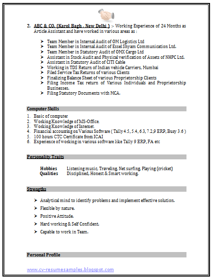 Over 10000 CV and Resume Samples with Free Download: Accounts Resume ...